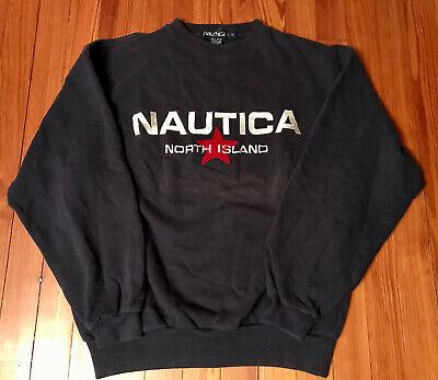 Vintage Nautica North Island Crewneck Sweater Sweatshirt Pullover Navy Large L