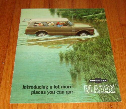 Original 1969 Chevrolet Blazer Sales Brochure