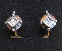 Orecchini Antichi Oro 750 18 Kt 1 Cm 2,2 Grammi Lobo Chiusura Monachina Vintage -  - ebay.it