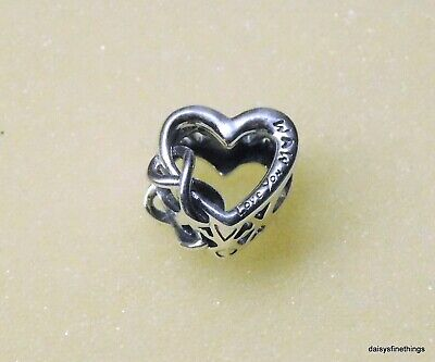NEW/TAGS  AUTHENTIC PANDORA CHARM LOVE YOU MOM INFINITY HEART #798825C01