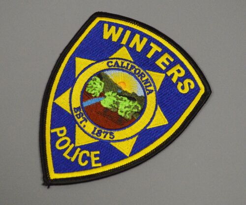 Winters California 2013 version Police Patch ++ Yolo County CA HTF