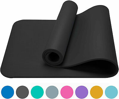 4mm Yoga Mat Non-Slip Pilates Pad Fitness Gym Exercise Sport Home Workout Campin