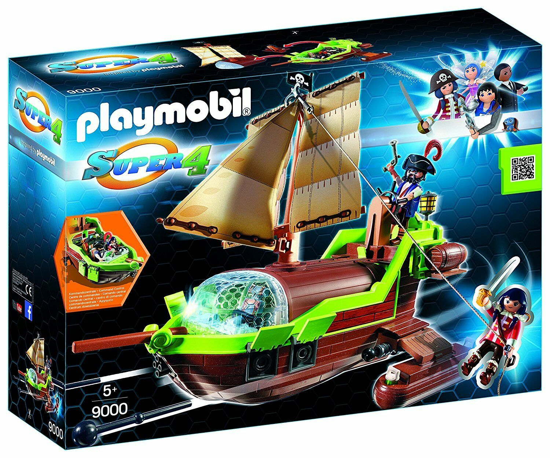 Playmobil Super 4- 9000- Nave Pirata Chameleon con Rubino