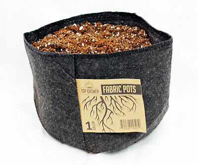 1 Pack TOP GROWER Premium Fabric Pots Commercial Grow Smart Bags 1 - 300 Gallon