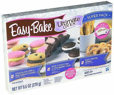 EASY BAKE OVEN MIX Refill Super Set 10 Mixes Cookies Cake Pretzels Cheese Bundle Cake Mix Set