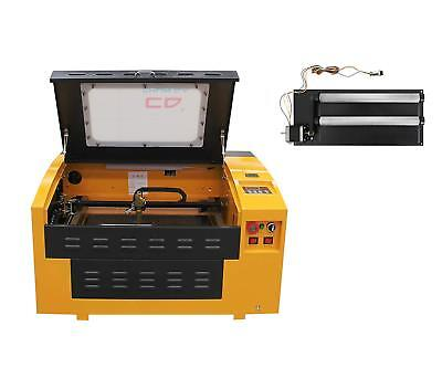 Ten-high 430 40w Version Laser Engraver Cutter With Usb Port-- Rotary Axis