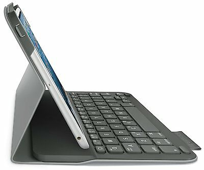 Logitech Wireless Ultrathin Keyboard Folio Case iPad Mini 1 2 3 Retina Veil Grey