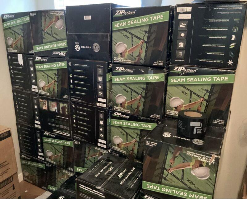 Twelve  (12) rolls of Zip System Seam Sealing - Flashing Tape Best Tape