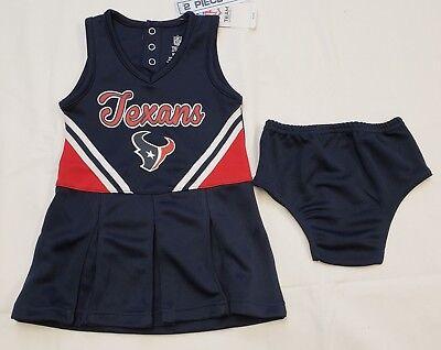 Baby Cheerleader Costume (NWT Houston Texans Girls Cheerleader Costume 2 pc Set Infant 18)