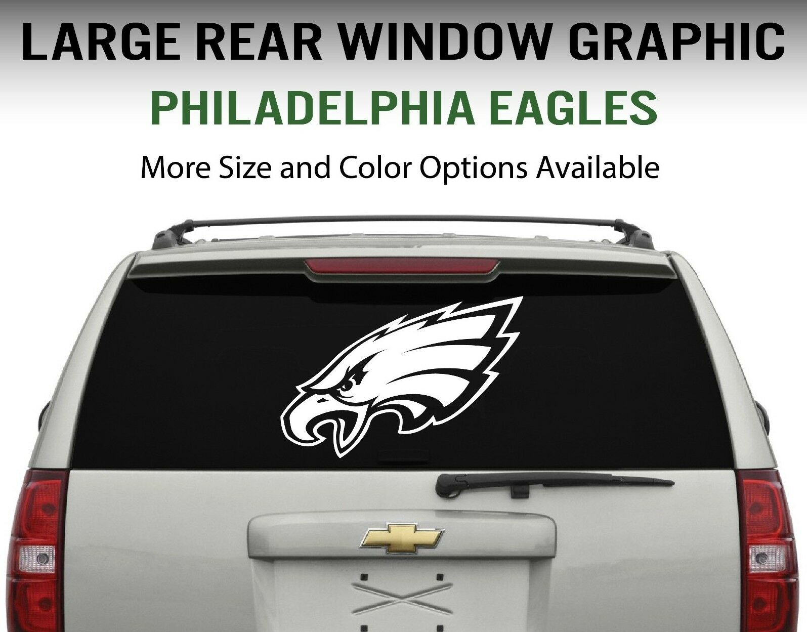 Philadelphia eagles window decal graphic sticker car truck suv choose size