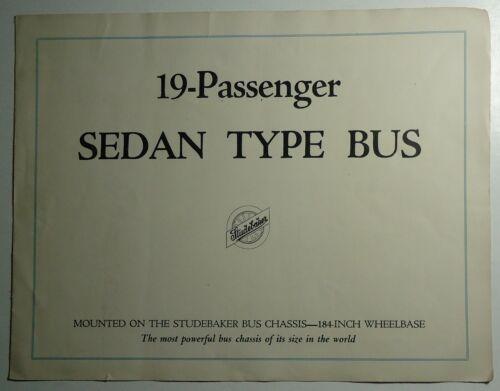 Studebaker 1926 Brochure -  19 Passenger Sedan Type Bus