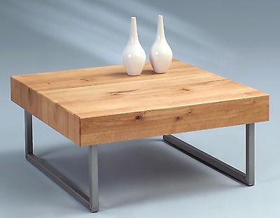 edelstahl + kernbuche | massivholz beistelltisch - glastisch tisch,