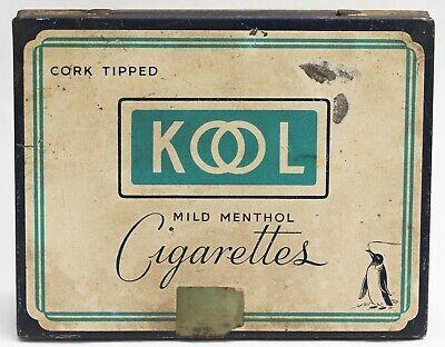 c.1940 vintage KOOL CIGARETTE FLAT FIFTY 50 TIN