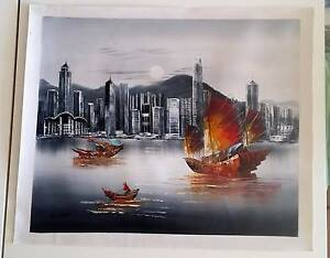 NEW Real Oil Painting of Hong-Kong South Brisbane Brisbane South West Preview