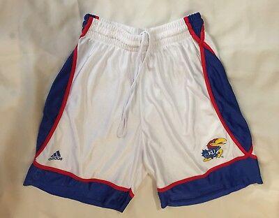 (Men's Adidas Kansas Jayhawks NCAA College Team Basketball Shorts Size Medium)