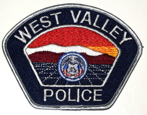 WEST VALLEY UTAH UT Police Sheriff Patch GREAT SALT LAKE MOUNTAINS STATE SEAL ~