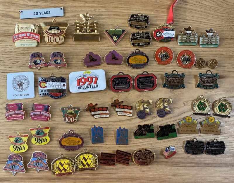 National Western stock show Volunteer pin lot 53 pins career 1990s 2000s