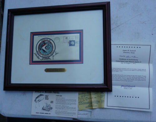Apollo 15 Crew Signed Insurance Cover from James Irwin Personal Collection & COA