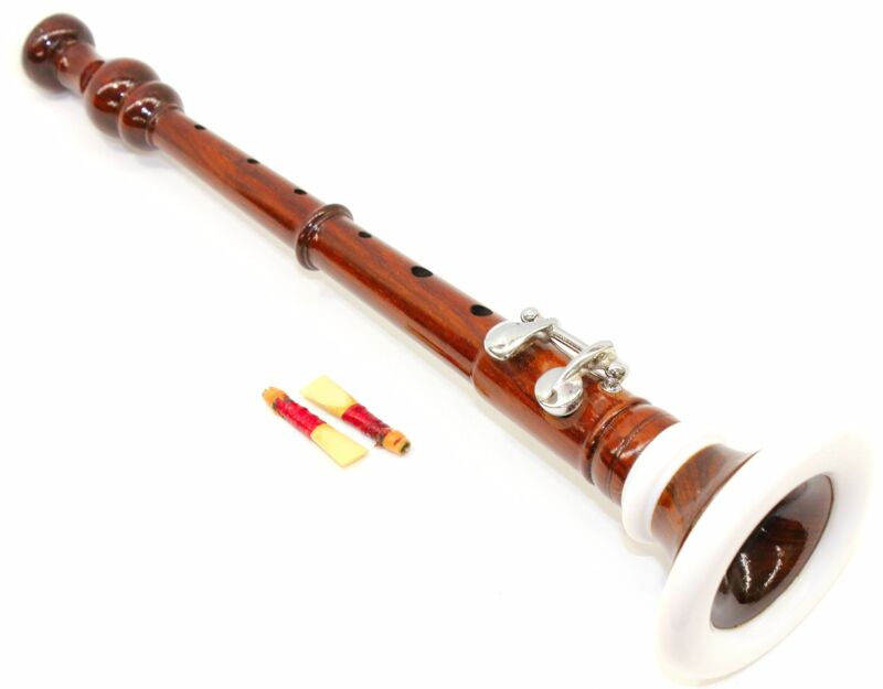 DEURA Brand BOMBARD OBOE Rosewood Flute Chanter WITH 2 REEDS