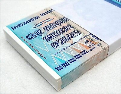 ZIMBABWE 100 TRILLION DOLLARS AA 2008 SERIES P-91 UNC - HALF BUNDLE, 50 NOTES