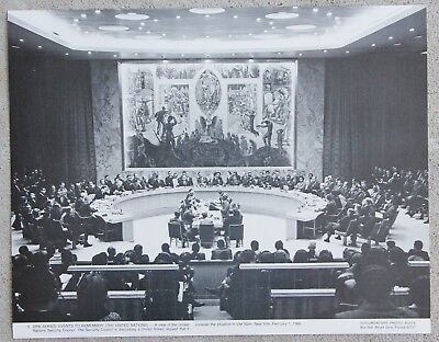 Rare Vintage 11x14 Photograph UN United Nations Security Council Vietnam War Era