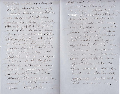 Autograph Heinrich Meidinger (1831-1905) Physiker Brief 1867 Karlsruhe Frankfurt
