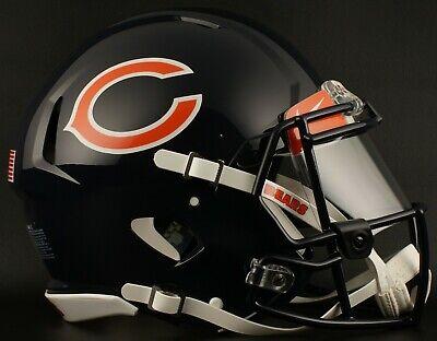 CHICAGO BEARS NFL Football Helmet with Nike CLEAR Visor / Eye Shield Chicago Bears Nfl Eye