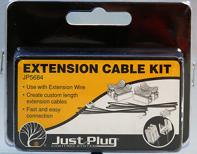 Extension Cable Kit - WOODLAND SCENICS EXTENSION CABLE KIT FOR JUST PLUG LIGHTING SYSTEM wire JP 5684
