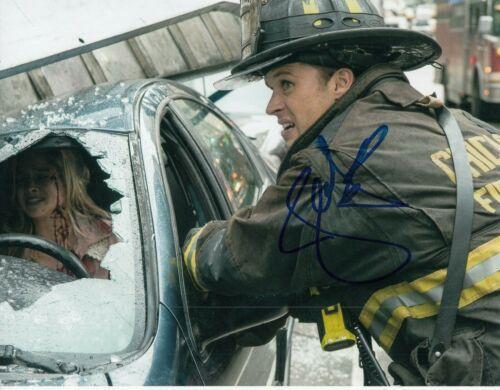 JESSE SPENCER signed (CHICAGO FIRE) TV SHOW 8X10 photo *Matthew Casey* W/COA #10