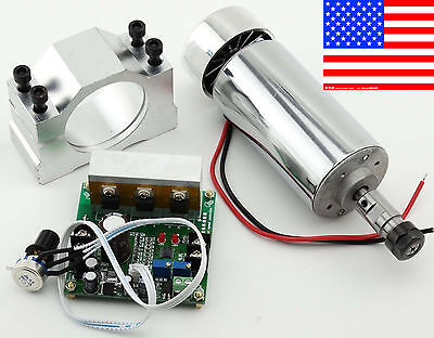 Cnc Router 0.4kw Air Cooling Spindle Motor Er11 Mach3 Pwm Controller Mount