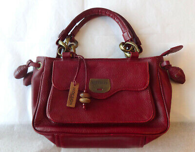 Vintage HiDesign Radley Maroon RED Oxblood Leather Hand Shoulder Bag