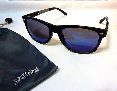 Kenneth Cole Reaction KCR1259 Women's Men's Unisex Square Sunglasses 02X BLACK