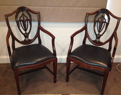 Antique wooden carved armchairs Willoughby Willoughby Area Preview