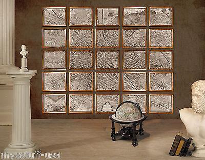 Authentic Models MC800 Wall Map of 1739 Paris Portfolio 1739 Paris Map