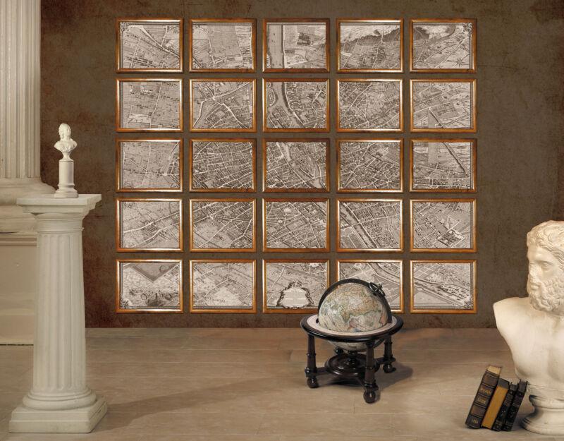 Authentic Models MC800 Wall Map of 1739 Paris Portfolio