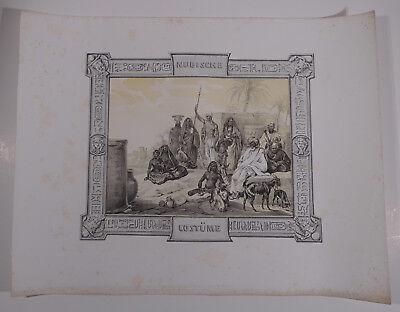 Mayr, H. Orient Ägypten Ansicht  1840 -  Nubische Kostüme.