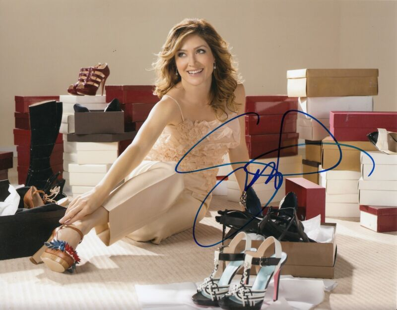 SASHA ALEXANDER signed (RIZZOLI & ISLES) TV STAR 8X10 photo W/COA *NCIS* #2