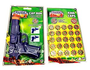 Sure Shot Cap Gun Toy Pistol With 200 Ring Cap For Childrens Outdoor Play Game