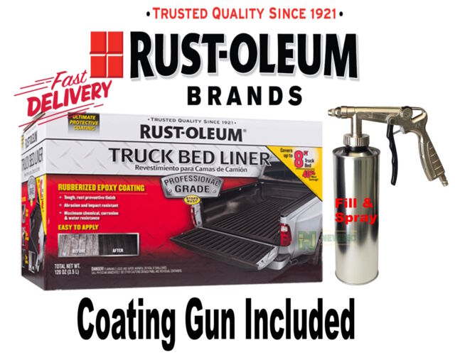 RUST-OLEUM TRUCK BED LINER KIT SPRAY PROFESSIONAL Rubberised Paint Tub Ute
