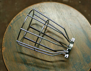 Steel Bulb Guard Clamp On Metal Lamp Cage For Vintage Trouble Light Industrial