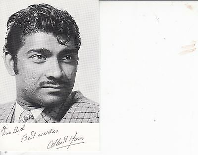 ALBERT MOSES BOND ACTOR AUTOGRAPHED PHOTO CARD