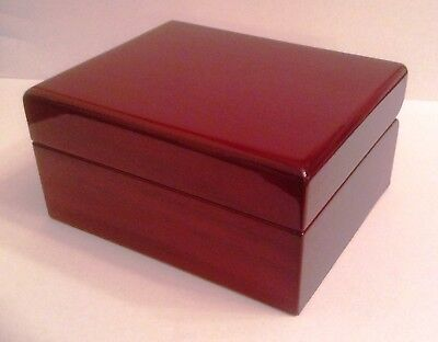 2 Maple-finish (RED MAPLE FINISH JEWELRY/TRINKET BOX ROCKET N.Y.C. 3.5