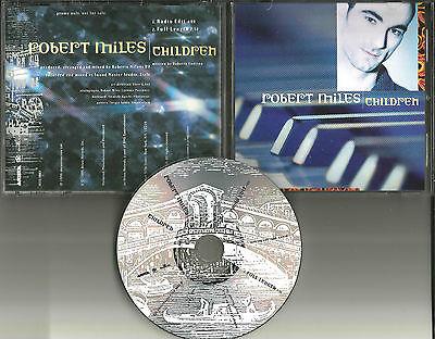 ROBERT MILES Children w/ ULTRA RARE RADIO EDIT PROMO DJ CD Single 1996 USA MINT