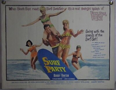 Surf Party Movie (SURF PARTY FF ORIG HALF-SHEET MOVIE POSTER BOBBY VINTON PATRICIA MORROW)
