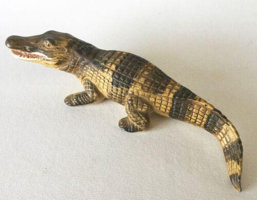 Realistic UCCTI Pottery ALLIGATOR Crocodile Reptile Figurine Japan Vintage