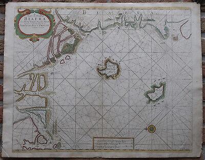 Antique Print-SEA CHART-AFRICA-CALABAR-NIGERIA-CAMEROON-GABON-Thronton-Lamb-1707