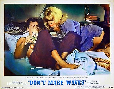 DON'T MAKE WAVES 1967 Tony Curtis Sharon Tate LOBBY CARD