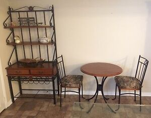 Baker's Rack and Dinette Set new price must sell.