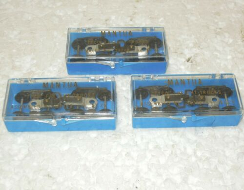 3 HO pairs NOS Mantua 34748 freight trucks hook and loop couplers in packaging