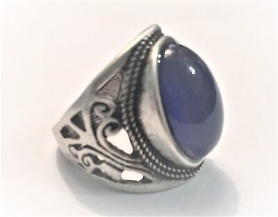 - VINTAGE STYLE MOOD RING ANTIQUE STYLE. STERLING SILVER PLATED
